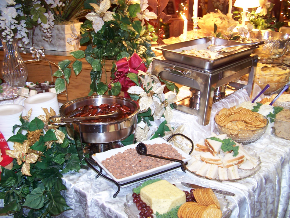 Table filled with food